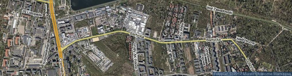 Zdjęcie satelitarne Bartycka