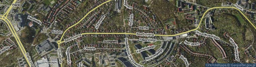 Zdjęcie satelitarne Beethovena Ludwika ul.