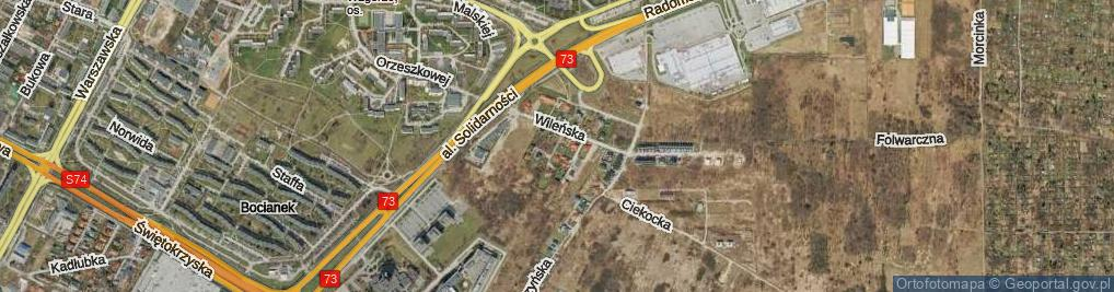 Zdjęcie satelitarne Bęczkowska