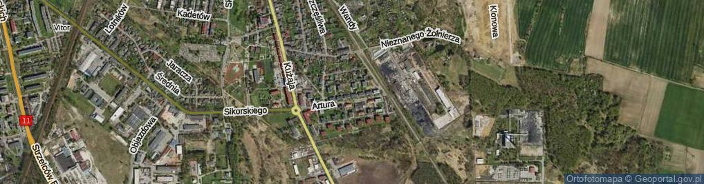 Zdjęcie satelitarne Bezpieczna ul.