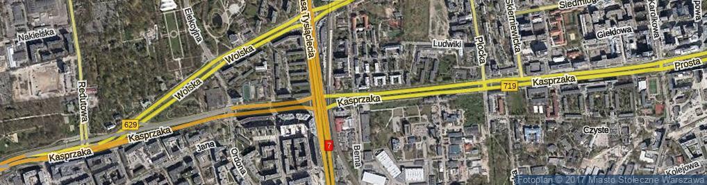 Zdjęcie satelitarne Bema Józefa, gen.