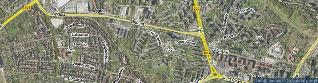Zdjęcie satelitarne Biedronki ul.