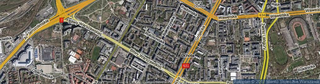 Zdjęcie satelitarne Białobrzeska
