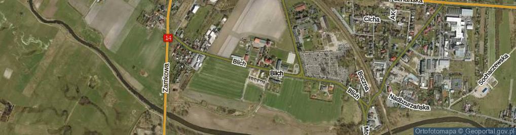 Zdjęcie satelitarne Blich ul.