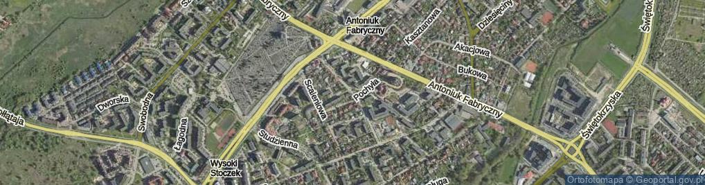 Zdjęcie satelitarne Blokowa