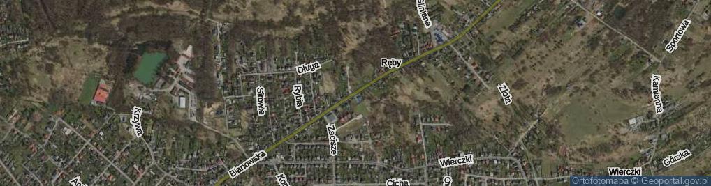 Zdjęcie satelitarne Blanowska ul.