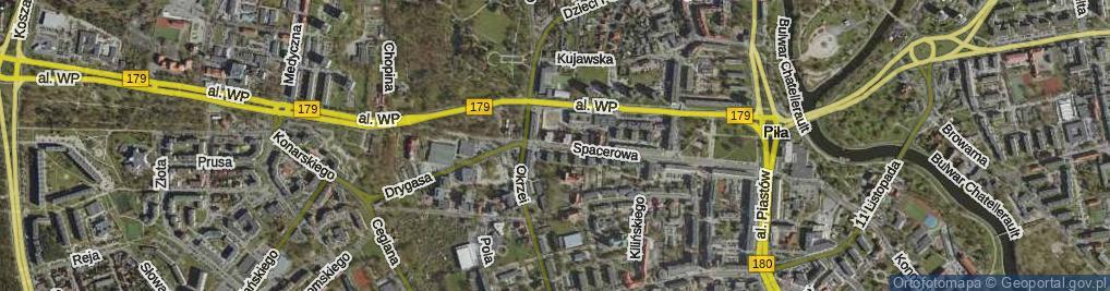 Zdjęcie satelitarne Bohaterów Stalingradu ul.