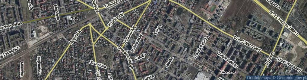 Zdjęcie satelitarne Bohaterów Warszawy ul.