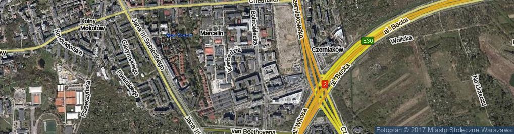 Zdjęcie satelitarne Bobrowiecka