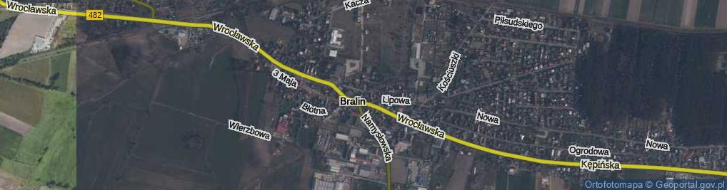 Zdjęcie satelitarne Bralin