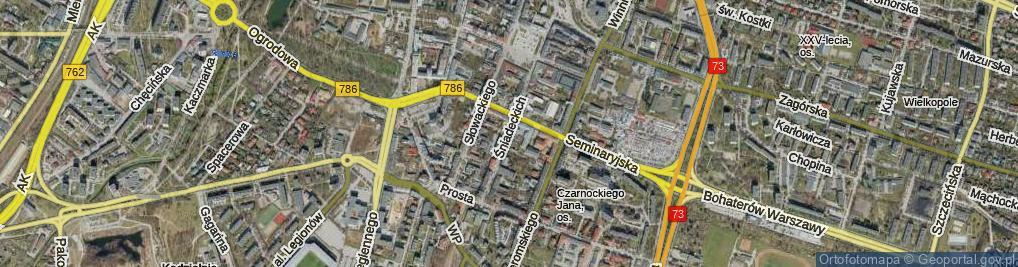 Zdjęcie satelitarne Braci Śniadeckich