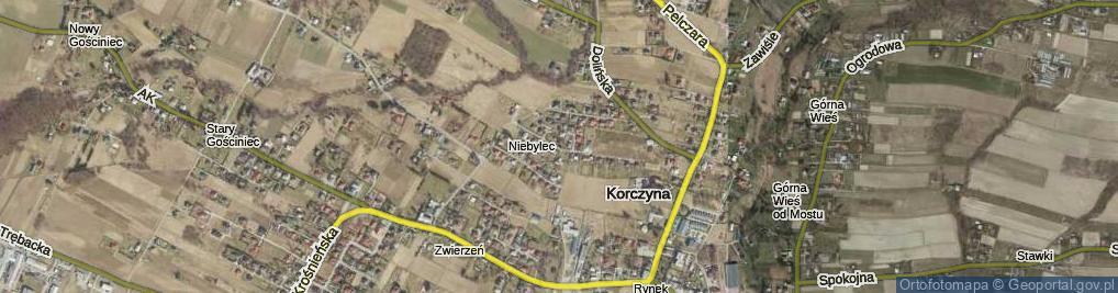 Zdjęcie satelitarne Brzozowa ul.