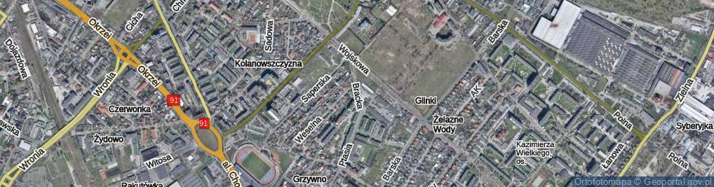 Zdjęcie satelitarne Bracka ul.