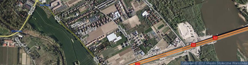 Zdjęcie satelitarne Bruzdowa ul.
