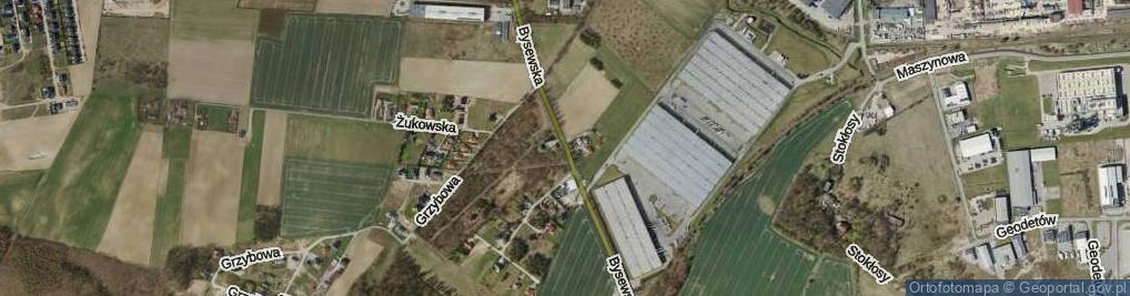 Zdjęcie satelitarne Bysewska