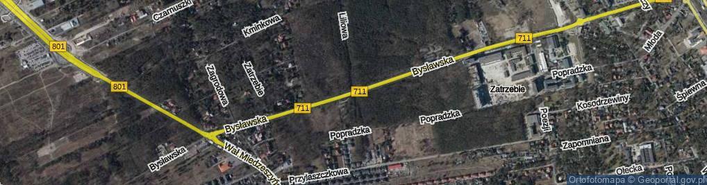 Zdjęcie satelitarne Bysławska