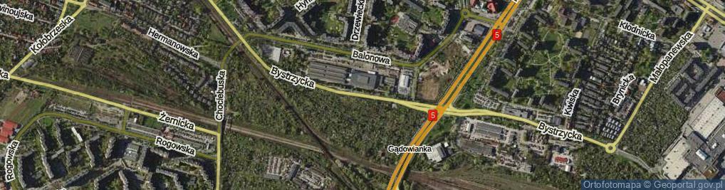 Zdjęcie satelitarne Bystrzycka ul.