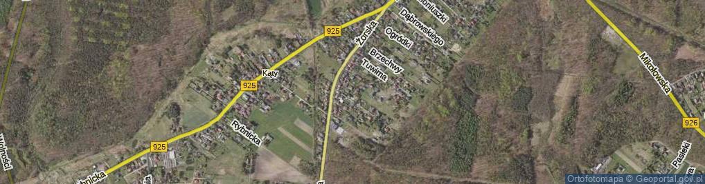 Zdjęcie satelitarne Bzów