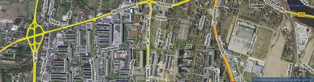 Zdjęcie satelitarne Centralna