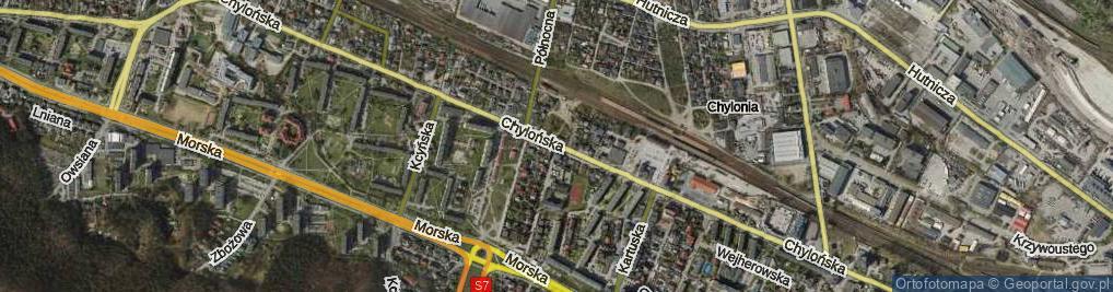 Zdjęcie satelitarne Chylońska