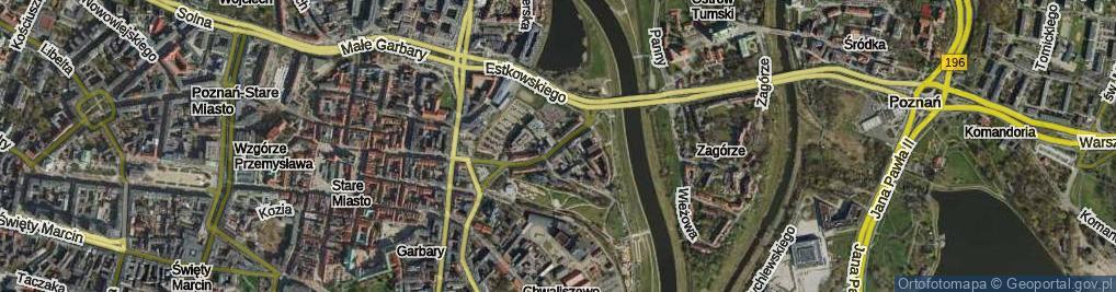 Zdjęcie satelitarne Chwaliszewo ul.