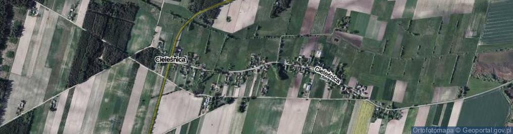 Zdjęcie satelitarne Cieleśnica