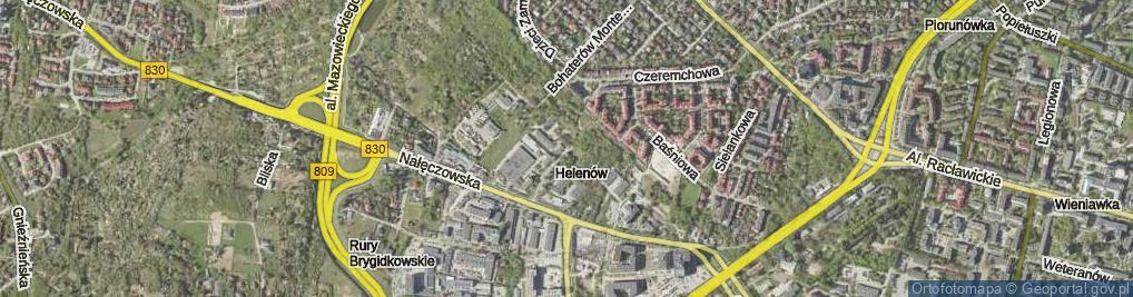 Zdjęcie satelitarne Cisowa