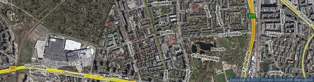 Zdjęcie satelitarne Ciołka Erazma