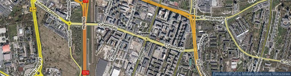Zdjęcie satelitarne Cybernetyki ul.