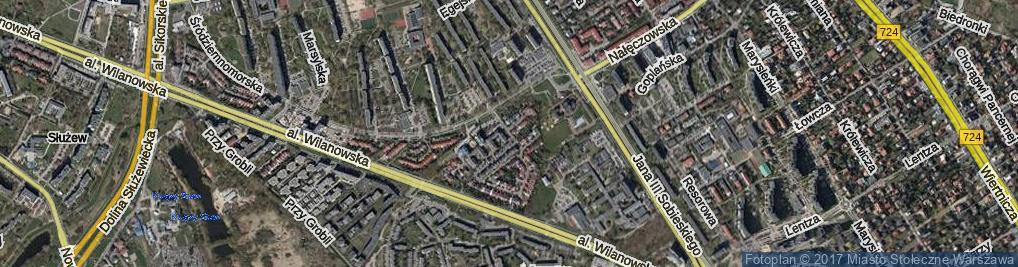 Zdjęcie satelitarne Cypryjska ul.