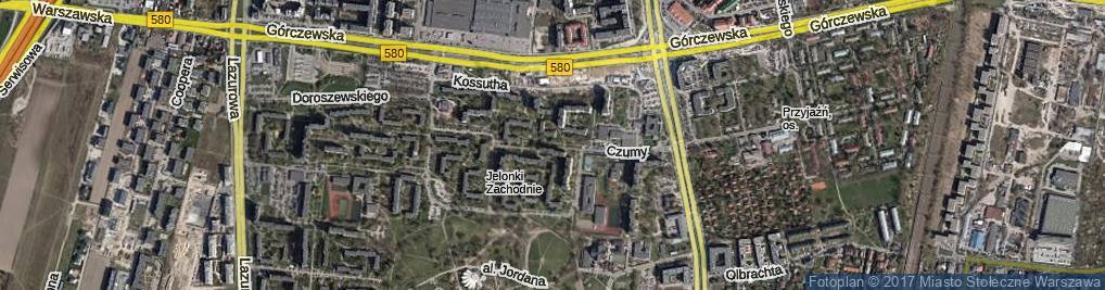 Zdjęcie satelitarne Czumy Waleriana, gen. ul.