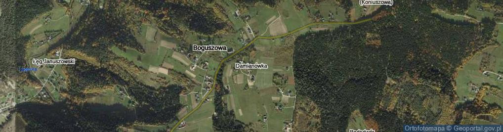 Zdjęcie satelitarne Damianówka