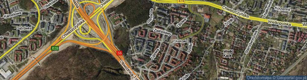 Zdjęcie satelitarne Damroki ul.