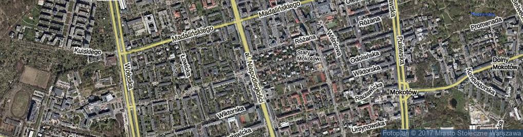 Zdjęcie satelitarne Dąbrowskiego Jarosława, gen.