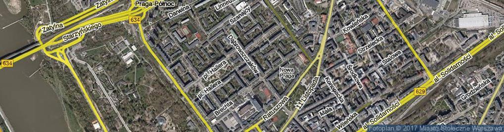 Zdjęcie satelitarne Dąbrowszczaków