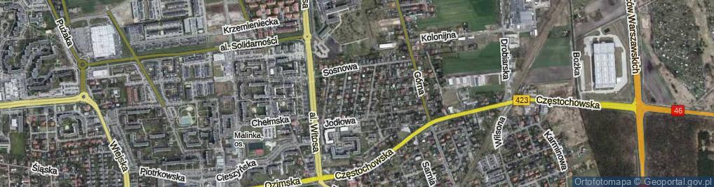 Zdjęcie satelitarne Dębowa