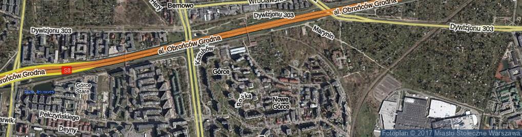 Zdjęcie satelitarne Dębicka ul.