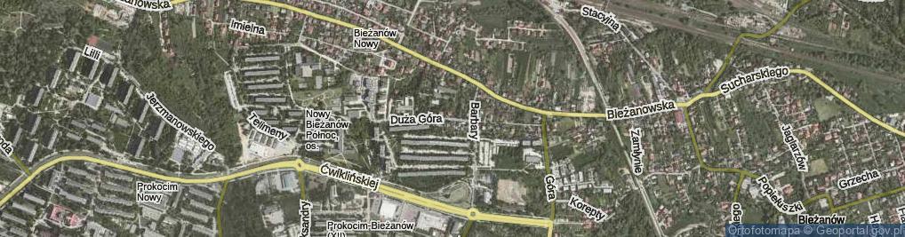 Zdjęcie satelitarne Duża Góra ul.