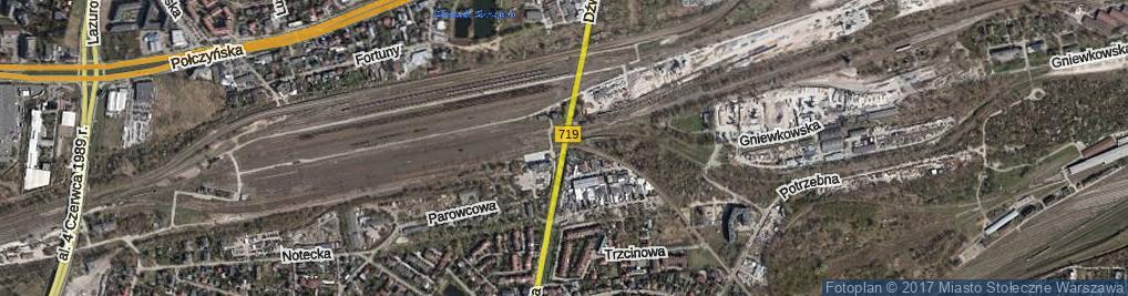 Zdjęcie satelitarne Dźwigowa ul.
