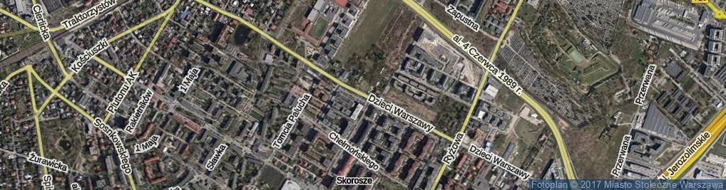 Zdjęcie satelitarne Dzieci Warszawy ul.