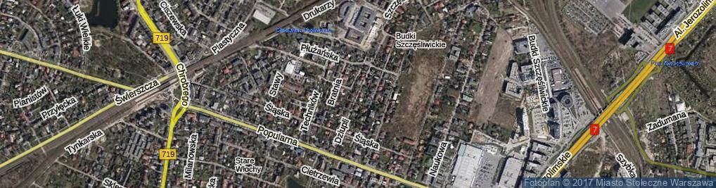 Zdjęcie satelitarne Dziupli