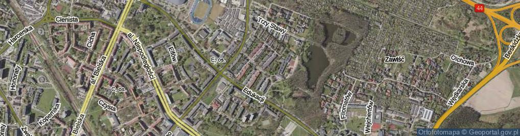 Zdjęcie satelitarne Estkowskiego Ewarysta ul.