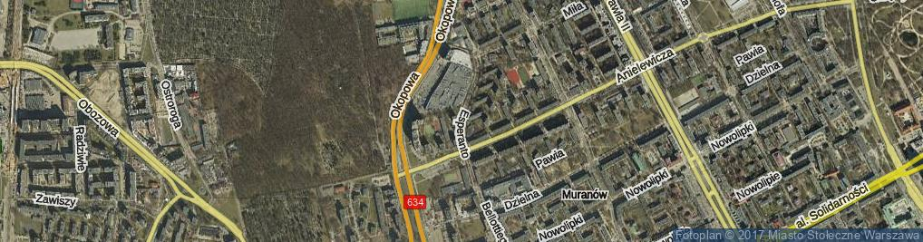 Zdjęcie satelitarne Esperanto ul.