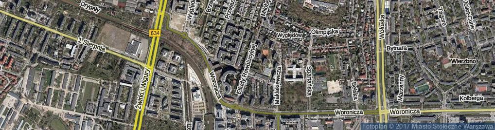 Zdjęcie satelitarne Etiudy Rewolucyjnej ul.