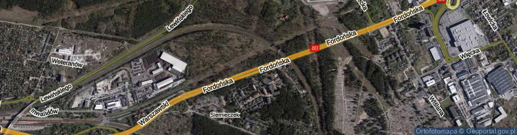 Zdjęcie satelitarne Fordońska