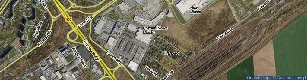 Zdjęcie satelitarne Franowo