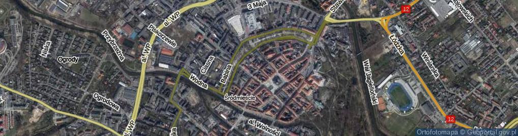 Zdjęcie satelitarne Garbarska