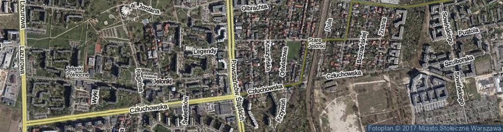 Zdjęcie satelitarne Gimnazjalna ul.