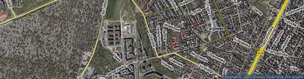 Zdjęcie satelitarne Gilarska