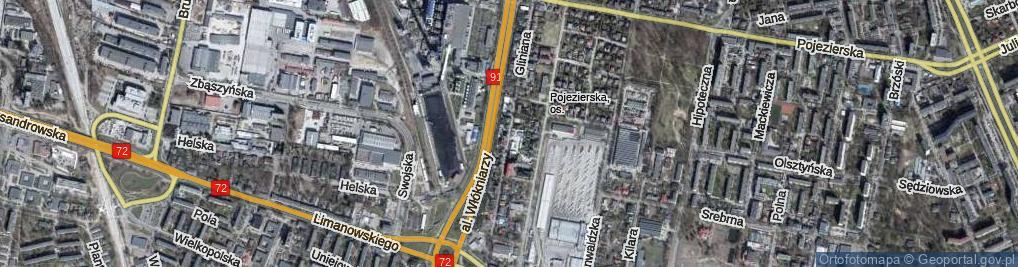 Zdjęcie satelitarne Gliniana